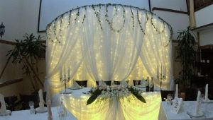 Bride and Groom Wedding Table Decoration