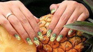 Heldere en stijlvolle oplossingen voor manicureontwerp met ananas