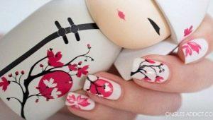 Heldere ideeën om een manicure met sakura te creëren