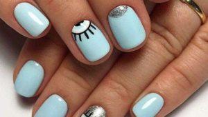 Сините идеи за къси нокти