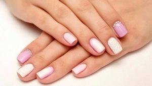 Opções para manicure suave para unhas curtas