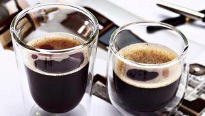 Lasit ja lasit kahvia varten: tyypit ja vivahteet