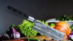 Japanse keukenmessen: soorten, regels naar keuze en verzorging