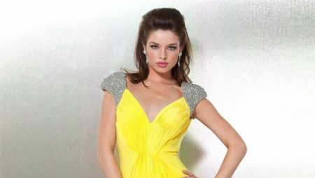 Yellow evening dresses