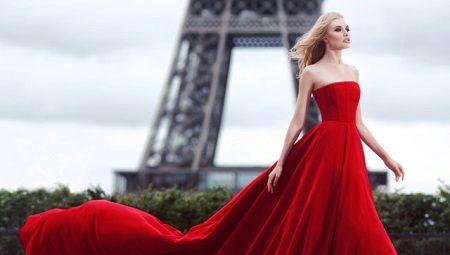Røde aften kjoler