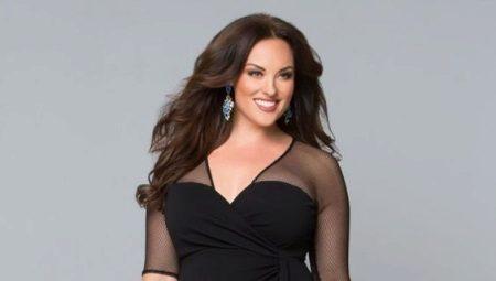 Zwarte jurk voor vrouwen met overgewicht