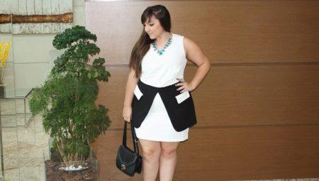 Vestits de moda per a dones obeses de talla petita i curta.
