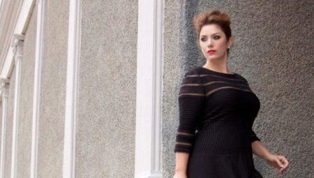 Vestit de nit negre de grans dimensions per a dones obeses