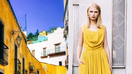 Dress mustard color - for spectacular women