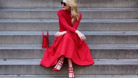 What to wear red dress?