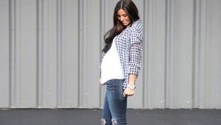 Ripped Jeans voor zwangere vrouwen