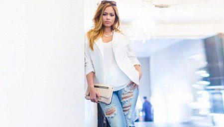 Jeans esquinçats per a noies obeses