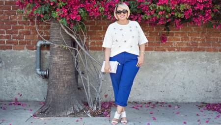 Pantalons d'estiu femenins obesos