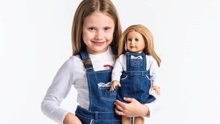 Jeans vestido de verão para meninas