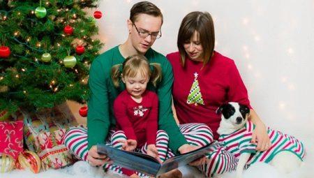 Samaa pyjamaa koko perheelle