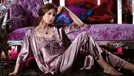 Naisten silkki pyjama