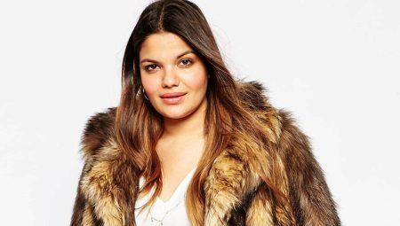 Capes de pell de grans mides per a dones obeses