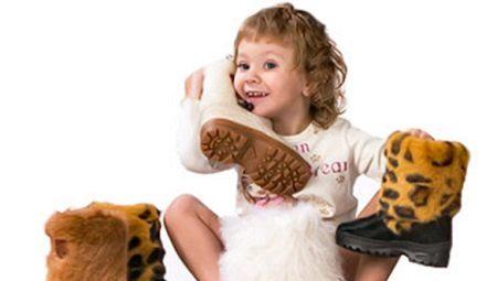 Botas infantis para meninas