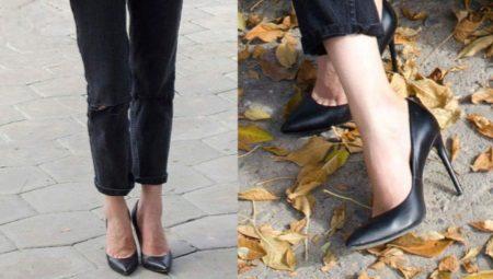 Sapatos femininos de couro