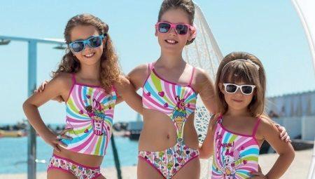 Swimwear infantil para a piscina para meninas