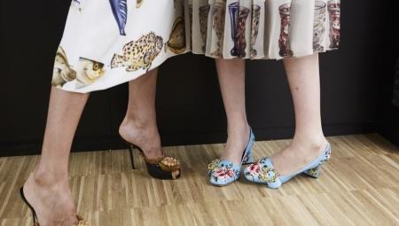 Sapatos com flores