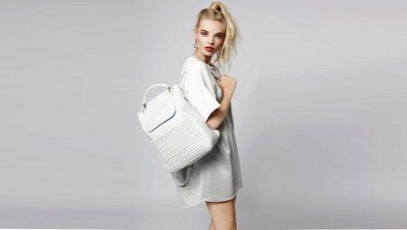 Bolsa de mochila com padrão e alfaiataria