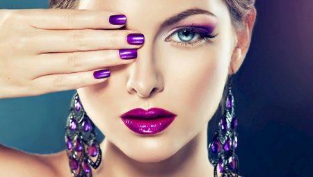 De beste ideeën paarse manicure voor korte nagels