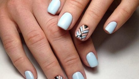 Ideeën manicure geometrie voor korte nagels