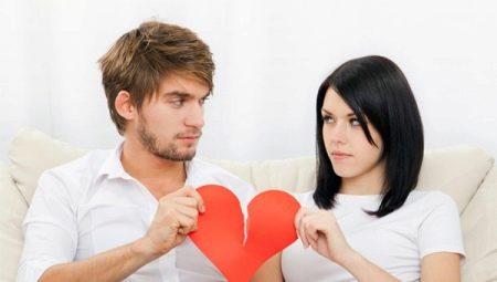 Hoe te scheiden met een man?
