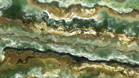 Onice verde: proprietà, applicazione e regole della cura della pietra