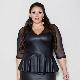 Lederen jurken voor vrouwen met overgewicht