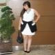 Modieuze jurken voor vrouwen met obesitas van klein en klein formaat.
