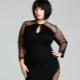 Schede jurk voor zwaarlijvige vrouwen