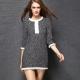 Vestidos de tweed - aparência elegante de negócios