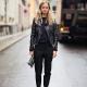 Jachetă din piele neagră - modele populare (75 fotografii)