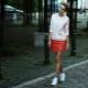 Saia com tênis