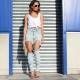Jeans com buracos