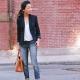 Combinar adequadamente jaquetas com jeans