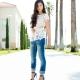Jeans das mulheres de verão