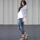 Разкъсани дънки за бременни жени