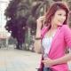 O que posso usar com uma jaqueta rosa?