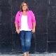 Casacos de tamanho grande para mulheres obesas