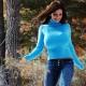Sininen villapaita