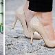 Sapatos bege e cor de carne