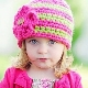 Chapéus de malha para meninas