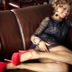 Sort kjole med røde sko (56 billeder)