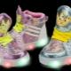 Tênis luminosos para crianças