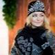 Conjunto: chapéu das mulheres, luvas e cachecol