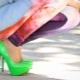 Sapatos verdes claros