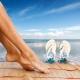 Sapatos de praia e outros sapatos para relaxar na praia